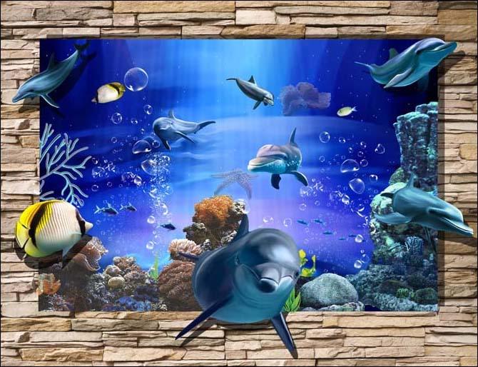 TH_08450 - Những mẫu tranh cảnh biển 3d đẹp khó cưỡng tại xưởng in Thiên Hà
