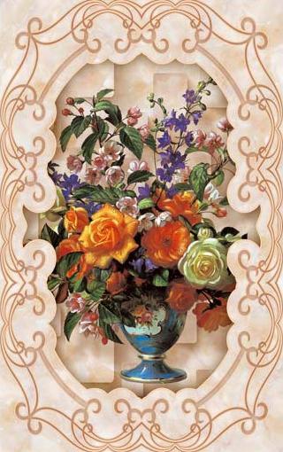 TH_10882 - Phòng bếp sẽ phù hợp với các mẫu tranh đứng với chủ đề bình hoa