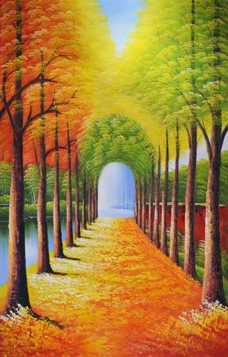 TH_10953 - Các mẫu tranh thường dùng trang trí lối đi, hành lang, dọc con đường đi dạo trong hoa viên