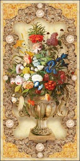 TH_10956 - Phòng bếp sẽ phù hợp với các mẫu tranh đứng với chủ đề bình hoa