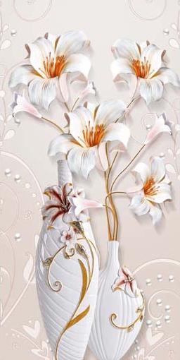 TH_10964 - Phòng bếp sẽ phù hợp với các mẫu tranh đứng với chủ đề bình hoa