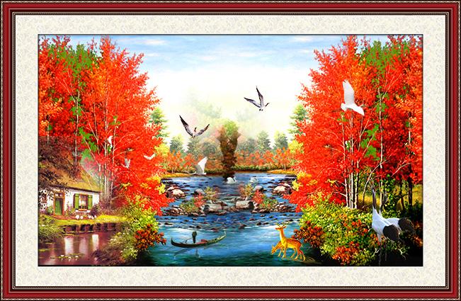 zth0098-copy- 10 mẫu tranh phong cảnh mùa thu đẹp nhất thế giới
