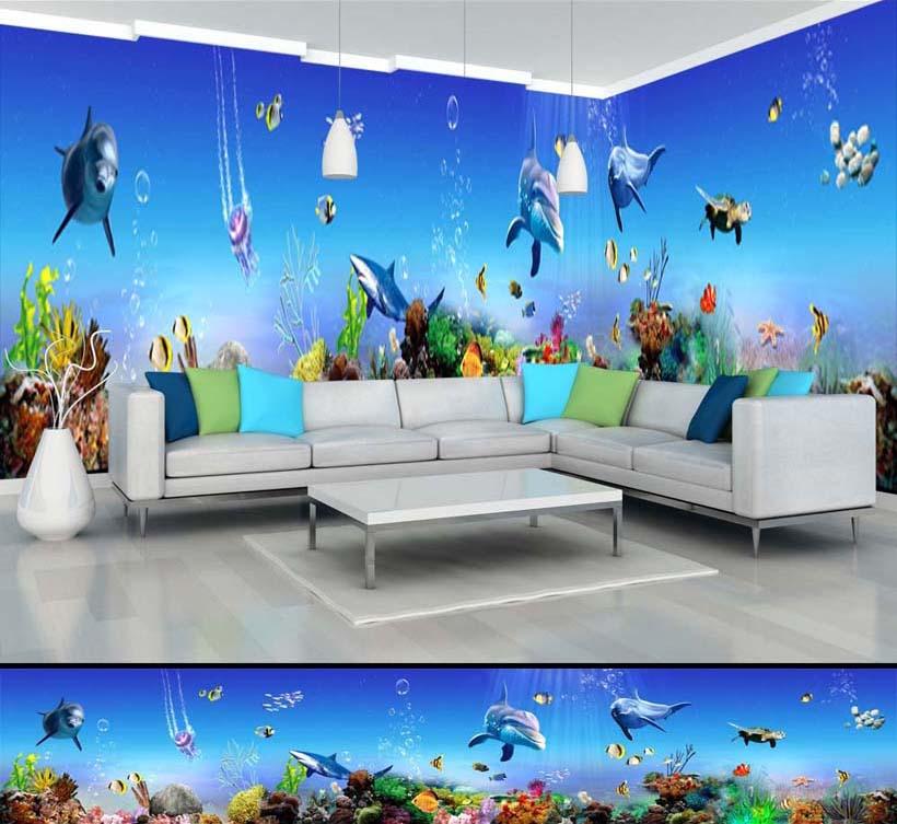 Tranh dán tường 3D mang đến vẻ đẹp sống động, chân thực nhất: mã in TH_-11544