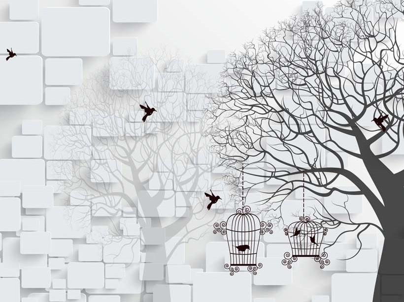 Tranh dán tường 3d quán cafe rẻ đẹp: mã in TH_03557
