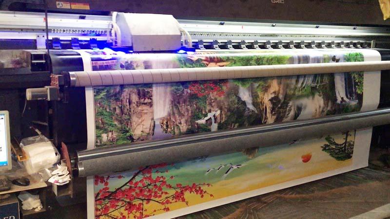 Xưởng in tranh dán tường vải lụa Thiên Hà giá rẻ, uy tín nhất