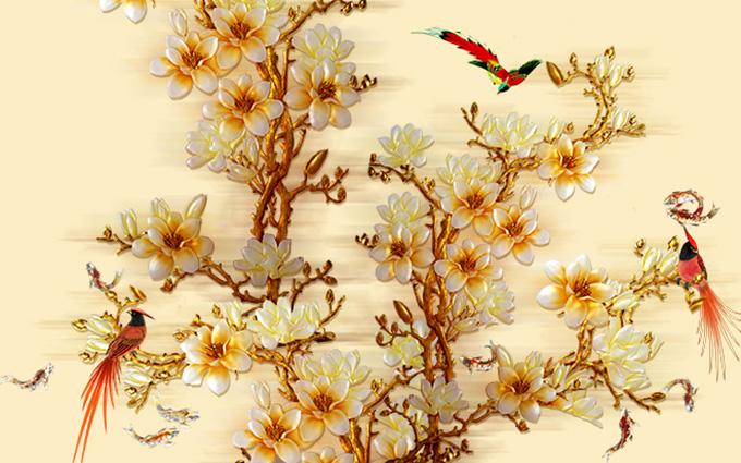 Tranh 3d phong cảnh mùa xuân mang đến nguồn cảm hứng bất tận cho ngôi nhà bạn - TH-58P-005192-copy