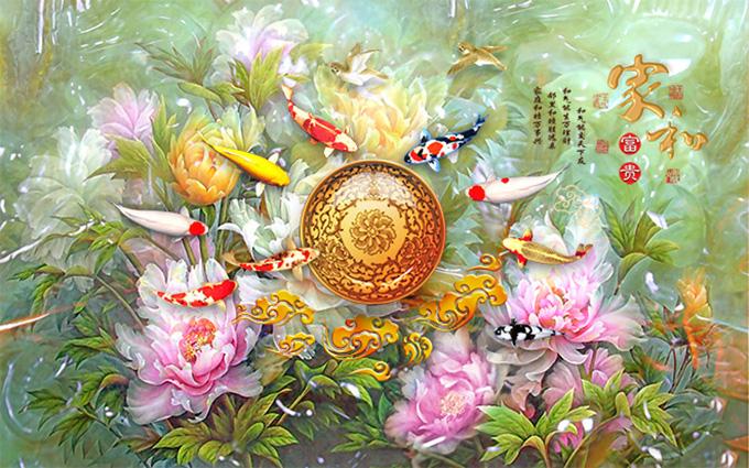 Tranh 3d phong cảnh mùa xuân mang đến nguồn cảm hứng bất tận cho ngôi nhà bạn - TH-58P-005342-copy