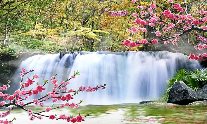 Tranh 3d phong cảnh mùa xuân mang đến nguồn cảm hứng bất tận cho ngôi nhà bạn - TH-58P-01085-copy