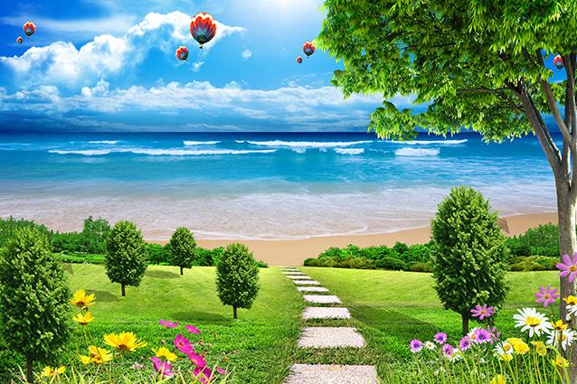 Tranh 3d phong cảnh mùa xuân mang đến nguồn cảm hứng bất tận cho ngôi nhà bạn - TH-58P-01121-copy
