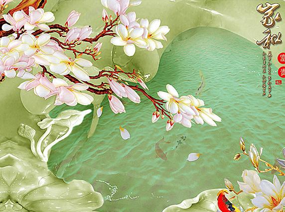 Tranh 3d phong cảnh mùa xuân mang đến nguồn cảm hứng bất tận cho ngôi nhà bạn - TH-58P-03181-copy