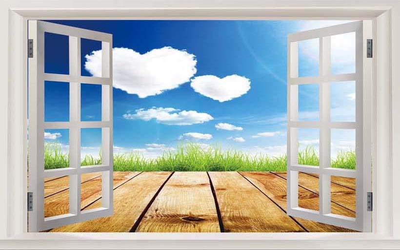 TH_-02596 - Tranh 3d dán tường - ý tưởng trang trí phòng cưới, làm mới phòng ngủ vợ chồng tuyệt vời