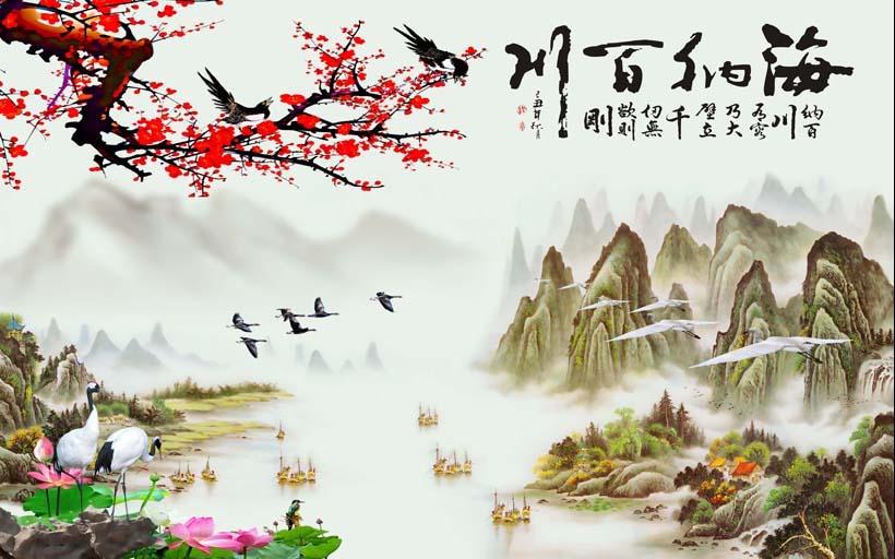 Tranh 3d phong cảnh mùa xuân mang đến nguồn cảm hứng bất tận cho ngôi nhà bạn - TH_08438
