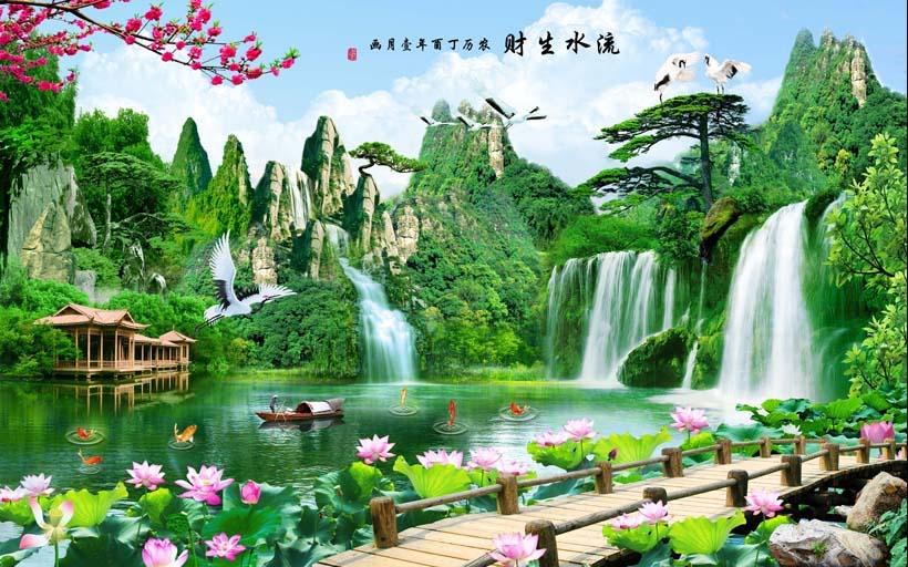 Tranh 3d phong cảnh mùa xuân mang đến nguồn cảm hứng bất tận cho ngôi nhà bạn - TH_09691