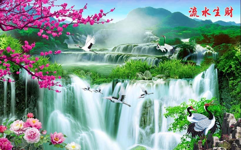 Tranh 3d phong cảnh mùa xuân mang đến nguồn cảm hứng bất tận cho ngôi nhà bạn - TH_09693