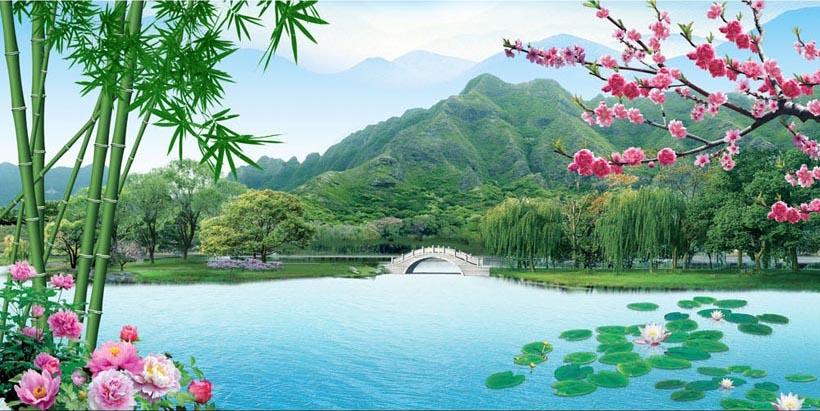 Tranh 3d phong cảnh mùa xuân mang đến nguồn cảm hứng bất tận cho ngôi nhà bạn - TH_10313