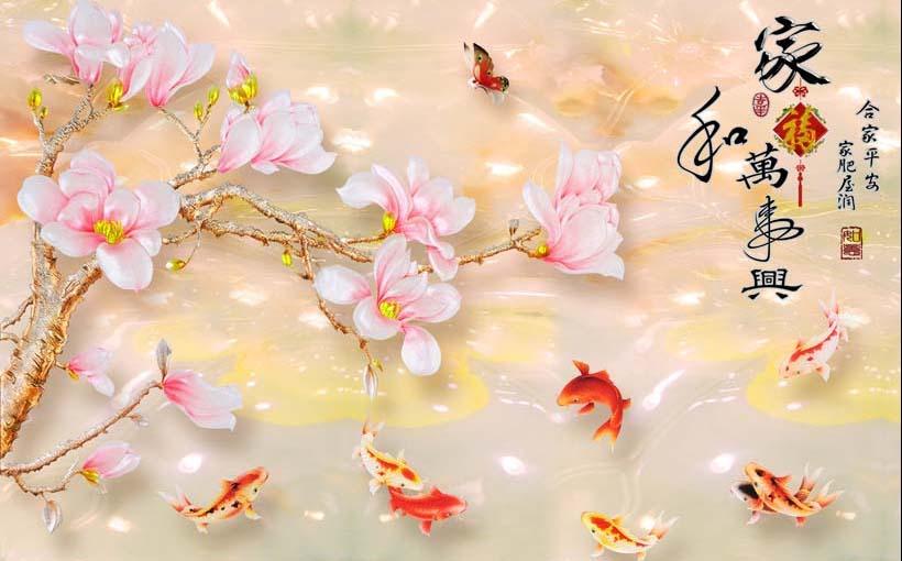Tranh 3d phong cảnh mùa xuân mang đến nguồn cảm hứng bất tận cho ngôi nhà bạn - TH_11276