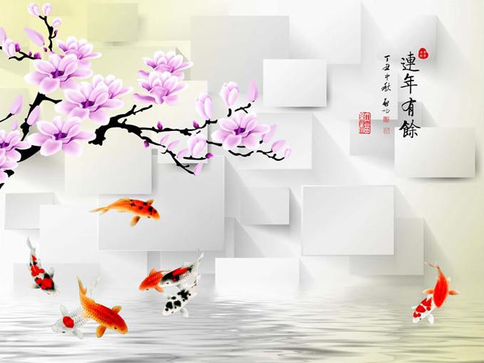 Tranh 3d phong cảnh mùa xuân mang đến nguồn cảm hứng bất tận cho ngôi nhà bạn - TH_12008