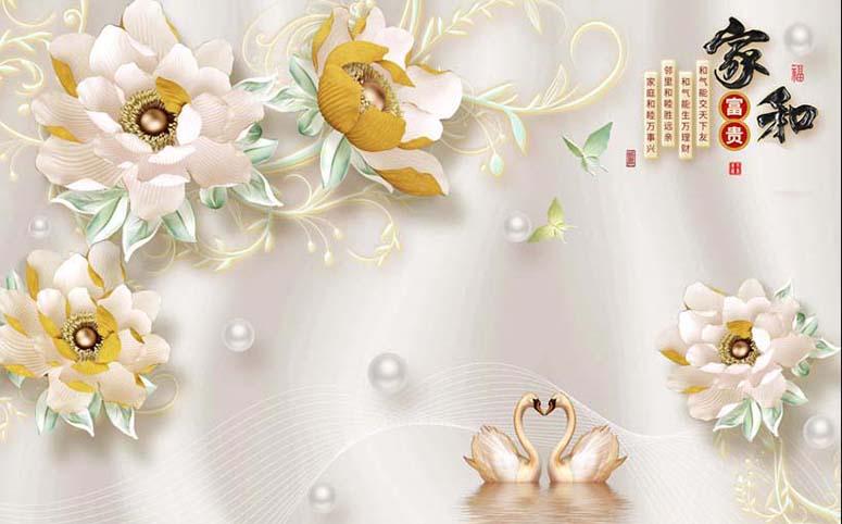 Bộ sưu tập những mẫu tranh 3d trang trí phòng cưới đẹp lung linh, 365 ngày hạnh phúc - TH_25844