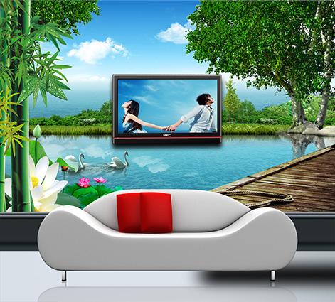 Mẫu tranh 3D phòng khách đẹp xuất thần chỉ có tại ở xưởng in tranh Thiên Hà - Mẫu 009bh-199-400x250-1-copy-1