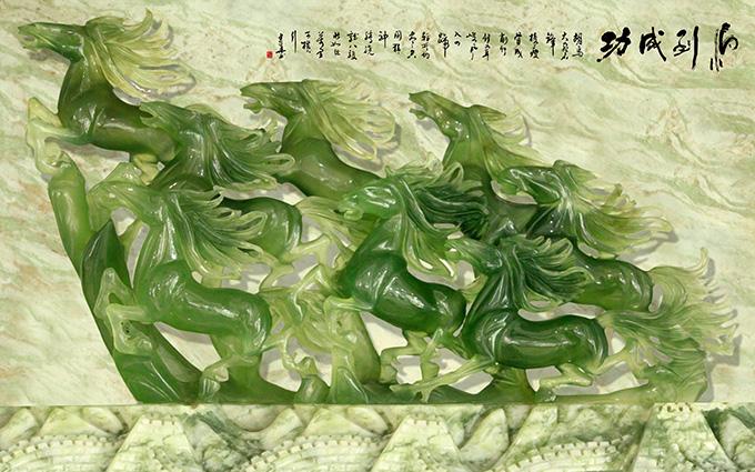 Xưởng in tranh 3d khổ lớn theo yêu cầu Thiên Hà giới thiệu mẫu tranh 3d dán tường siêu phong thủy giúp gia chủ hút tài lộc vào nhà:TH-58P-01456-copy