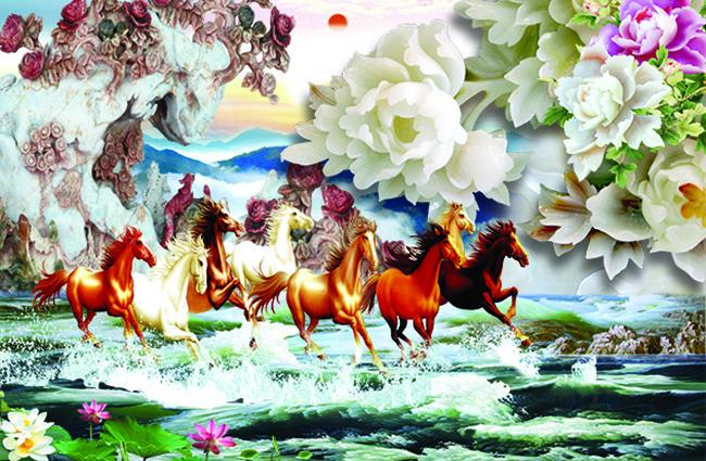 Mẫu tranh 3D phòng khách đẹp xuất thần chỉ có tại ở xưởng in tranh Thiên Hà - Mẫu TH-58P-05046-copy
