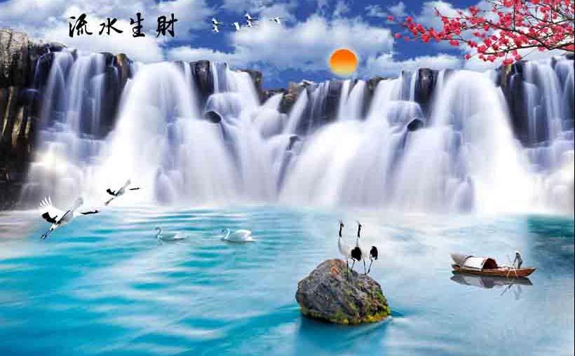 Mẫu tranh 3D phòng khách đẹp xuất thần chỉ có tại ở xưởng in tranh Thiên Hà - Mẫu TH_07658