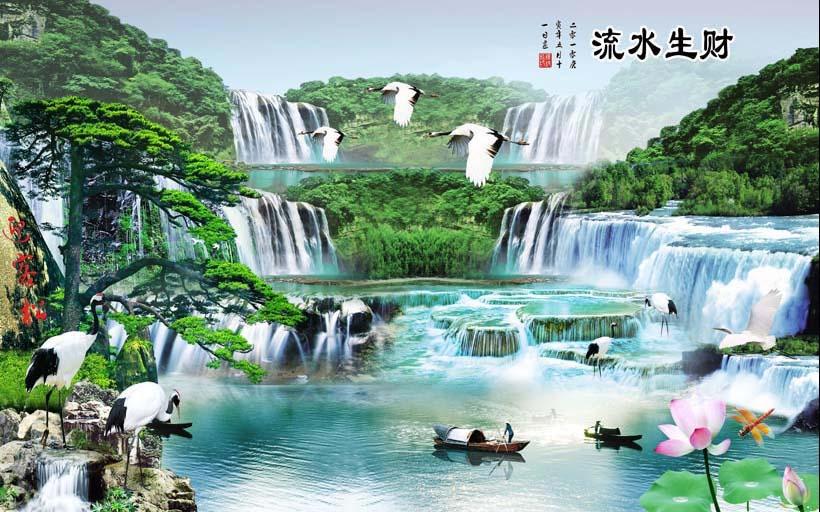 Mẫu tranh 3D phòng khách đẹp xuất thần chỉ có tại ở xưởng in tranh Thiên Hà - Mẫu TH_08431