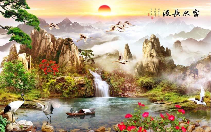 Mẫu tranh 3D phòng khách đẹp xuất thần chỉ có tại ở xưởng in tranh Thiên Hà - Mẫu TH_08584