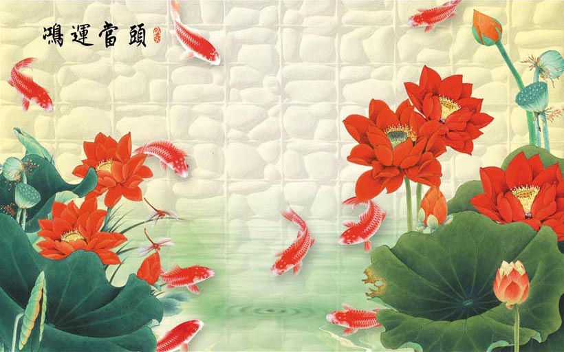 Xưởng in tranh 3d khổ lớn theo yêu cầu Thiên Hà giới thiệu mẫu tranh 3d dán tường siêu phong thủy giúp gia chủ hút tài lộc vào nhà:TH_10524