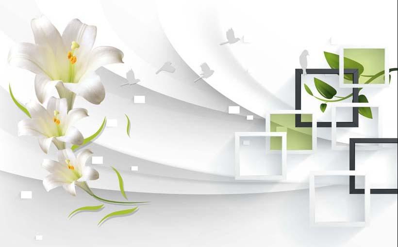Phòng ngủ chất lừ với mẫu tranh 3d dán tường mã số: TH_11616