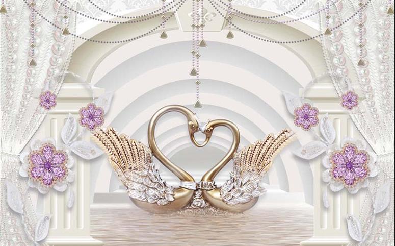 Top những mẫu tranh 3d phòng cưới đẹp nhất 2020 - Mẫu tranhTH_25790