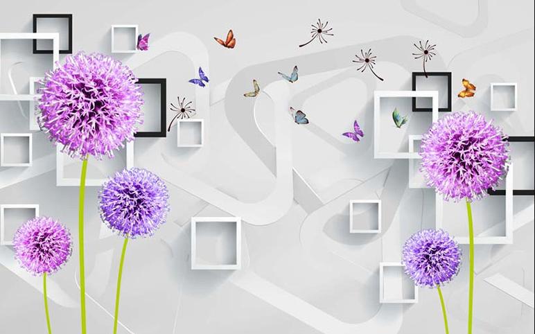 Phòng ngủ chất lừ với mẫu tranh 3d dán tường mã số: TH_25816